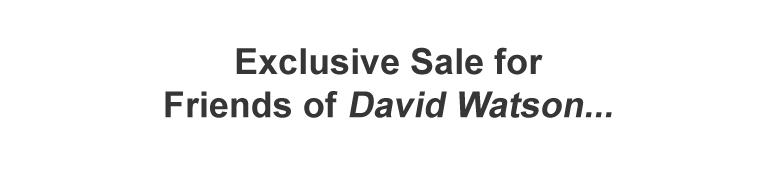 Subscriber Bonus David Watson